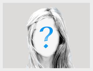 Zarys twarzy kobiety z symbolem znaku zapytania na środku twarzy